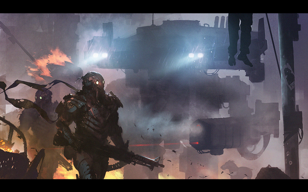 Monstrous Sci-Fi Battle Art - Overrun — GeekTyrant