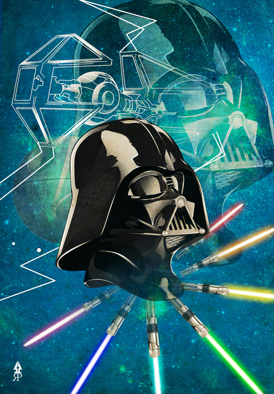 Here is a cool Darth Vader poster created by Ryan Jimenez , thanks to ...