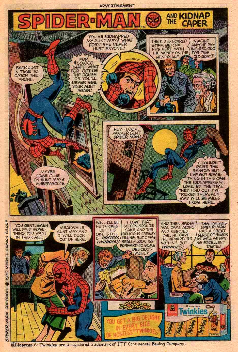 comic strip hostess strips superheroes books spiderman spider comics 1970 tribute selling heroes marvel twinkies funny geektyrant retro super dc