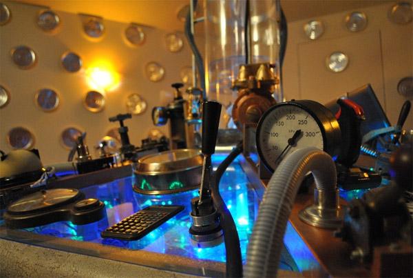 Home Made Tardis Control Room Geektyrant