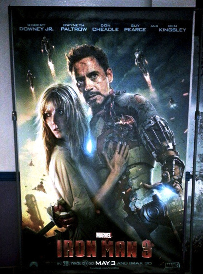 IRON MAN 3 - New Poster and Robert Downey Jr. Talks About ...