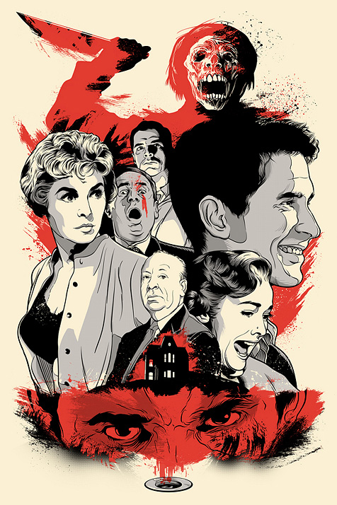 cool movie poster art for alfred hitchcock s psycho geektyrant