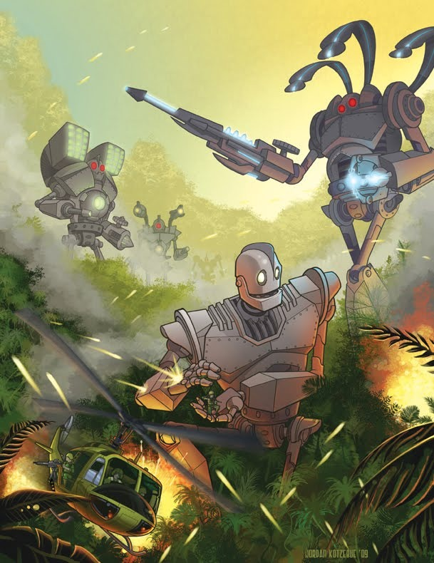 Incredibly Cool IRON GIANT Sequel Fan Art — GeekTyrant Real Alien Footage 2013