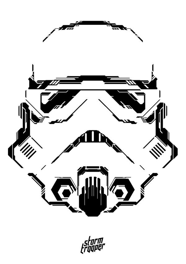 Star Wars Line Drawing Star Wars Geometric Art