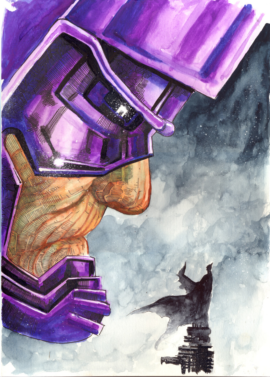 Geek Art: Galactus vs. Batman — GeekTyrant