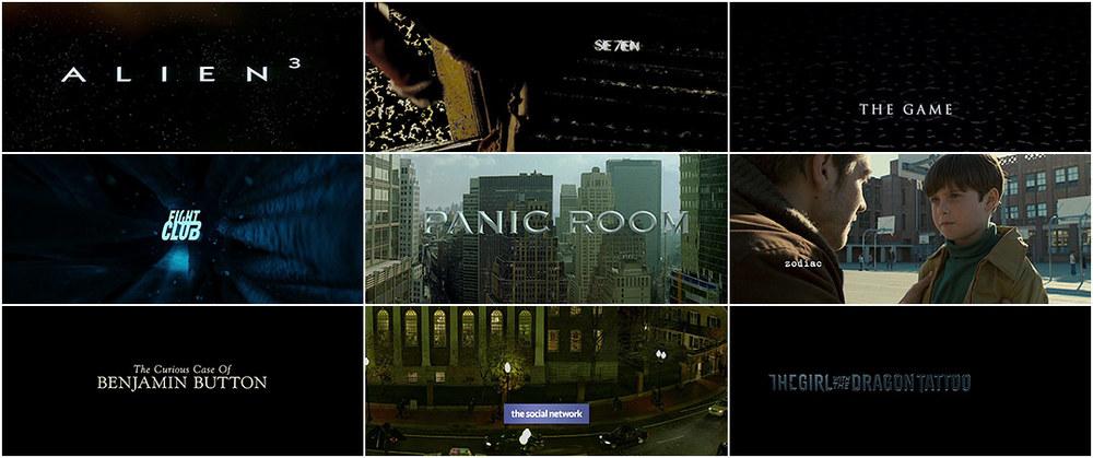 David Fincher Movie Title Video Montage Geektyrant