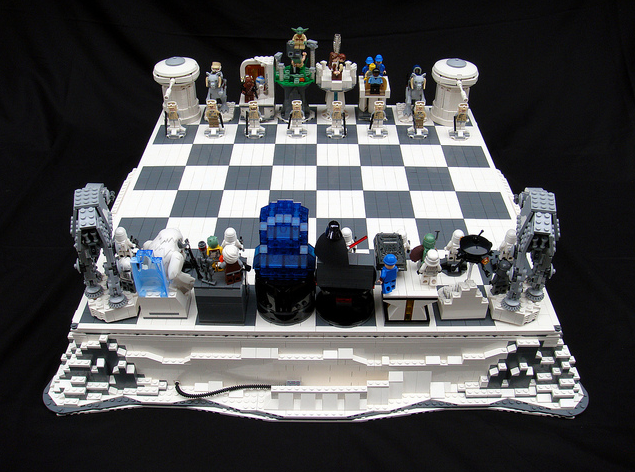 Awesome Star Wars Empire Strikes Back Lego Chess Set