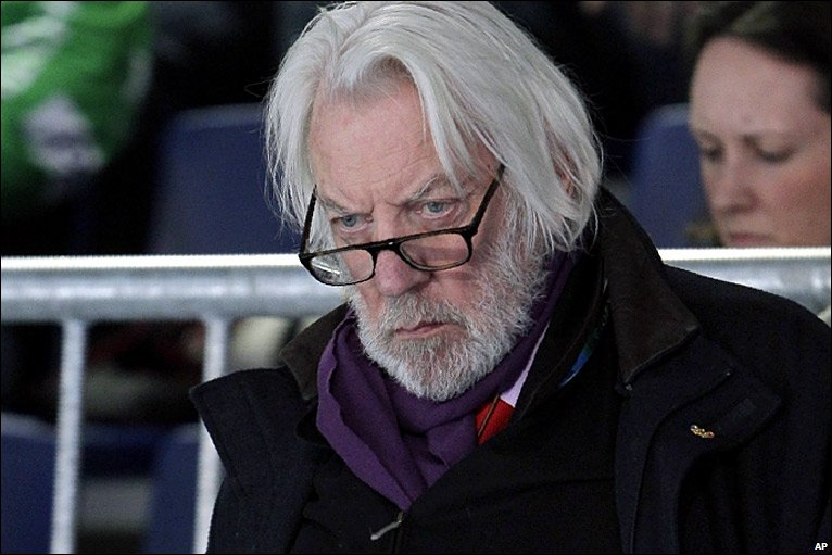 Donald Sutherland Cast in THE HUNGER GAMES — GeekTyrant