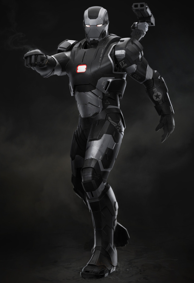 IRON MAN 3 Concept Art For War Machine Malibu Attack