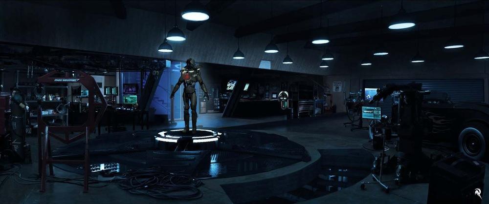 IRON MAN 3 - Concept Art for War Machine, Malibu Attack, and Mark 42
