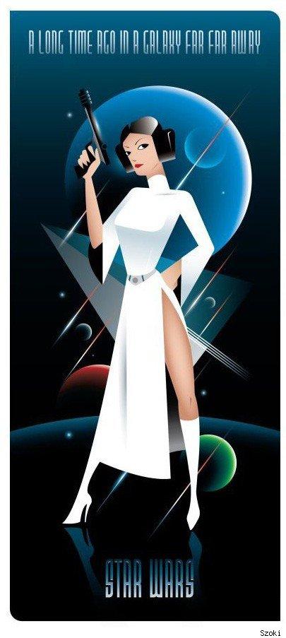 star wars geek art princess leia trilogy geektyrant