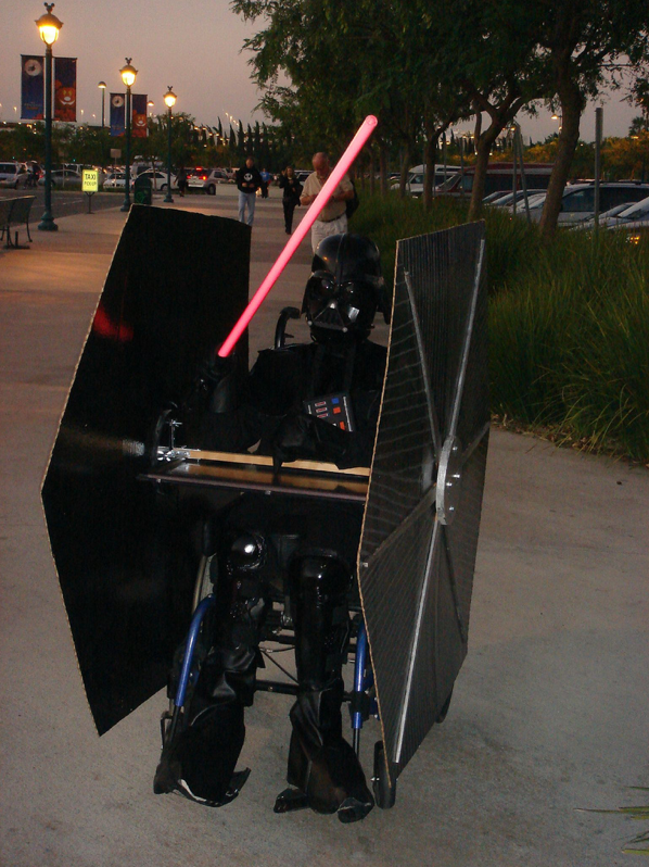 Tie Fighter Wheelchair Costume Wheelchair Tie Fighter Costume