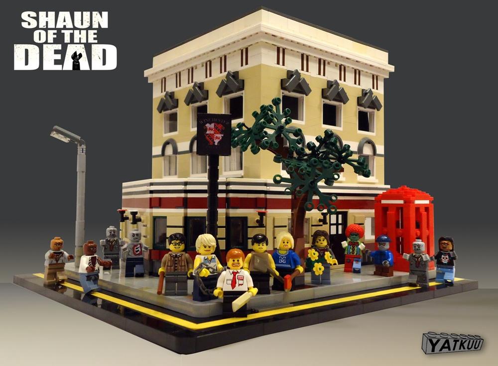 SHAUN OF THE DEAD Zombie LEGO Brick Set Up u2014 GeekTyrant