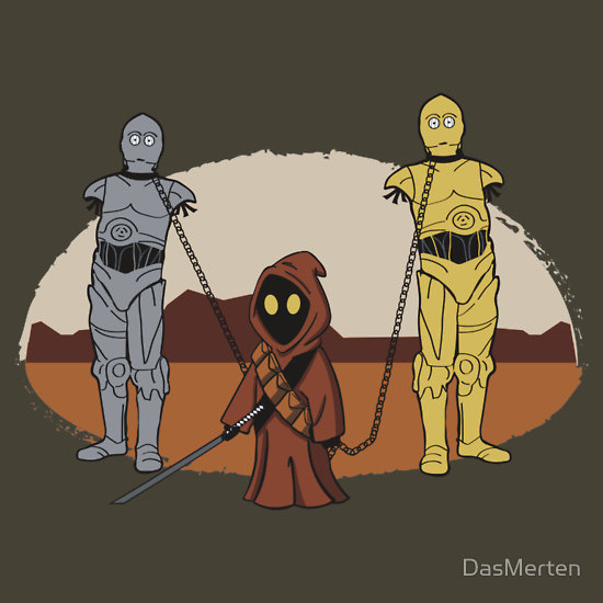 The Walking Dead And Star Wars T Shirt Mashup The