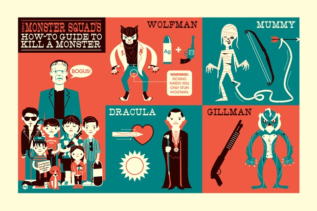 Geek Art: Monster Squad's How-To Guide to Kill a Monster