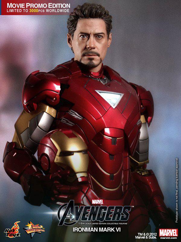 the avengers hot toys iron man mark vi collectible action figure geektyrant