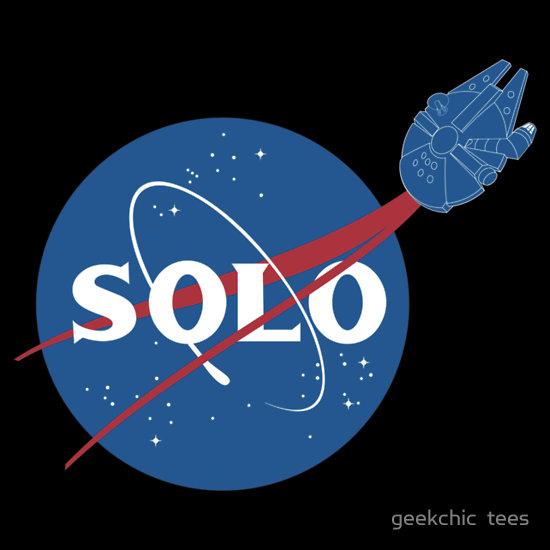 Star Wars Han Solo Nasa Logo Tee Geektyrant