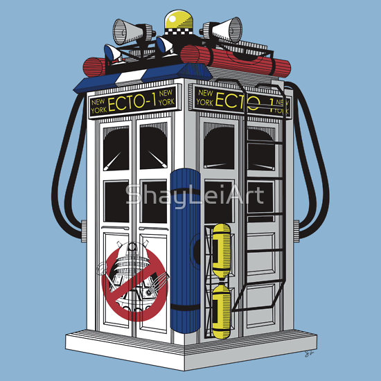 Art Humor Doctor Who Tardis Ghostbusters Mashup about 3 years ago by ...
