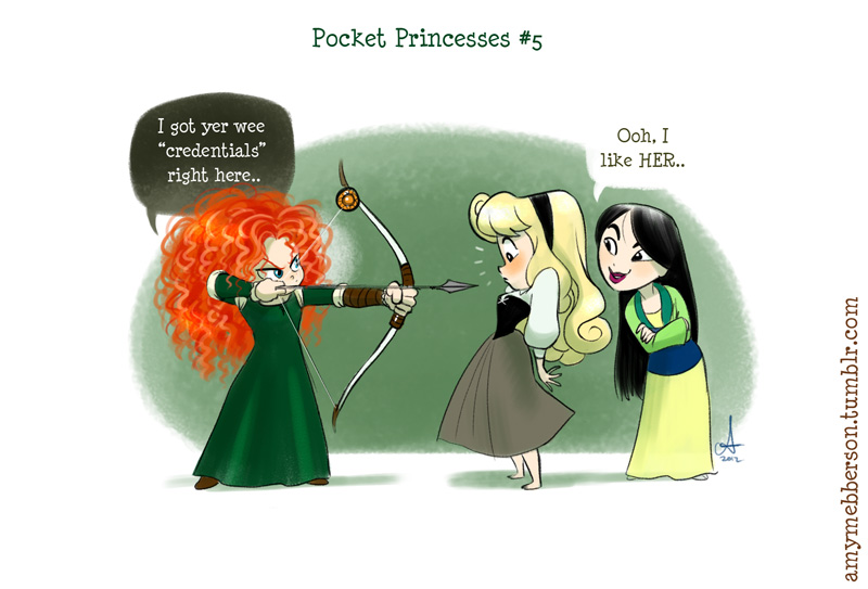 Funny Disney Pocket Princesses Comics