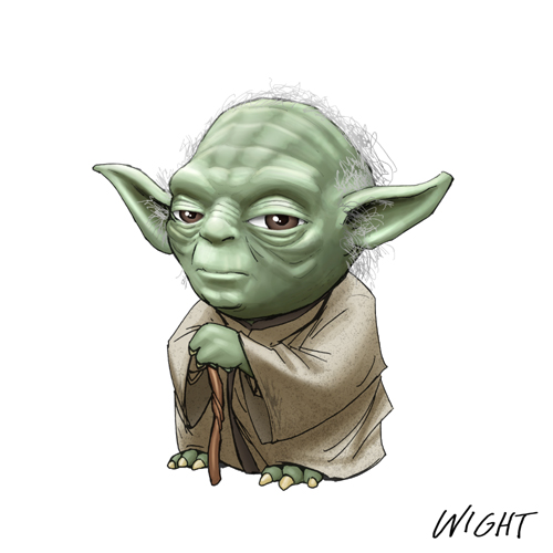 Yoda Character Design : Fun star wars alphabet character art — geektyrant