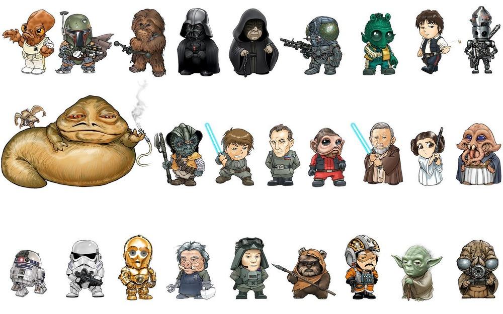 Relativ Fun STAR WARS Alphabet Character Art — GeekTyrant OP48