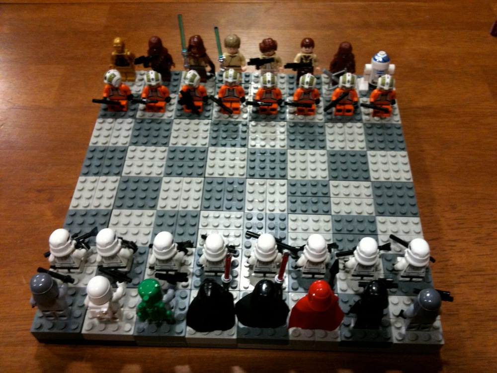 Awesome Star Wars Lego Chess Set Geektyrant