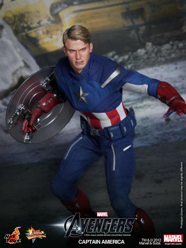 Cool Toys To Make : The avengers hot toys captain america collectible action