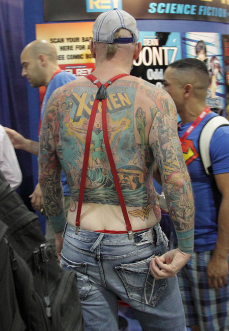 Check Out These Chest And Back Comic Book Superhero Tattoos
