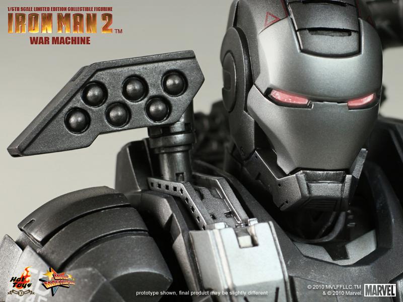 Awesome IRON MAN 2 WAR MACHINE Collectable Figure from Hot ...