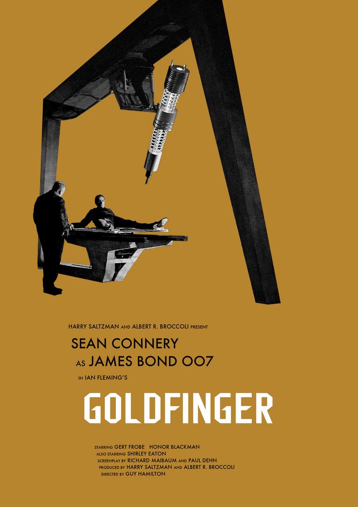 James Bond Movie Posters Redesigned By Owain Wilson Geektyrant