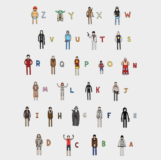 Rings With Star Wars Alphabet