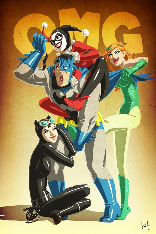 Batman angrebet af Gotham City Sirens Geektyrant-5322