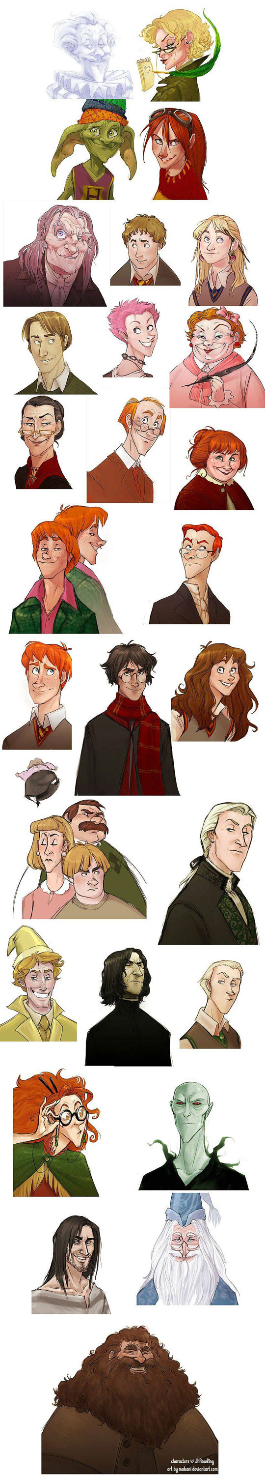 Harry Potter Character Design Challenge Facebook : Harry potter characters get a disney animated makeover