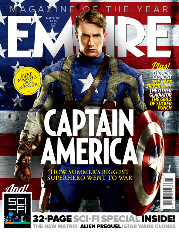 captain america the first avenger empire magazine cover. Black Bedroom Furniture Sets. Home Design Ideas