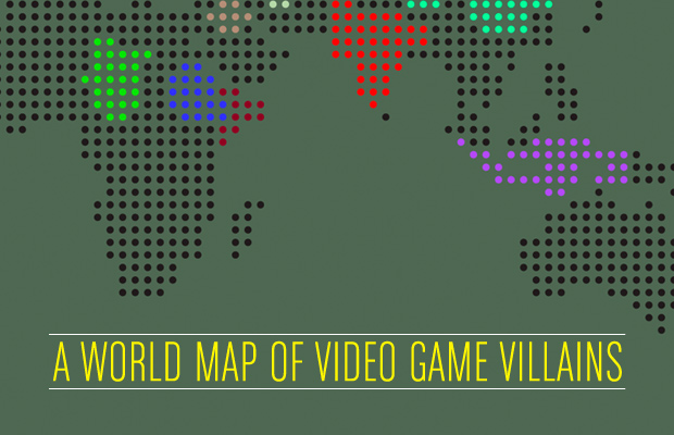 A world map of video game villains infographic geektyrant heres a fun infographic that was created by complex called a world map of video game villains and they take 20 war shooter video games released over the gumiabroncs Gallery