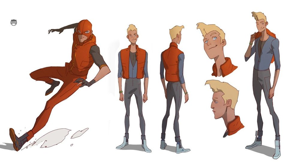 Character Design In Flash : Radical batman beyond character designs from kizer stone