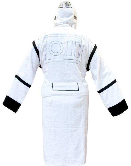 star wars hooded stormtrooper bathrobe geektyrant. Black Bedroom Furniture Sets. Home Design Ideas
