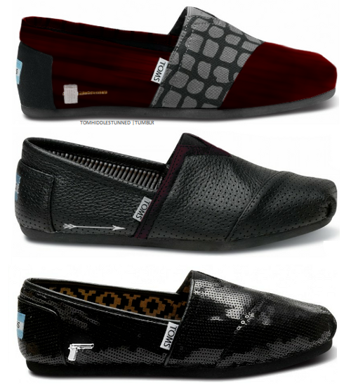 brand new 89967 c7daa ... Avengers themed TOMS shoes! They ve got Loki, Captain America, Iron Man,  Hulk, Thor, Hawkeye, and Black Widow. These were created by Tom  Hiddlestunned.