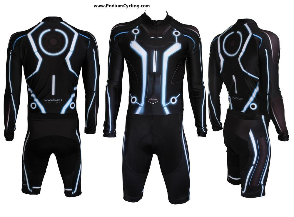 Tron Legacy Inspired Cycling Skinsuit Geektyrant