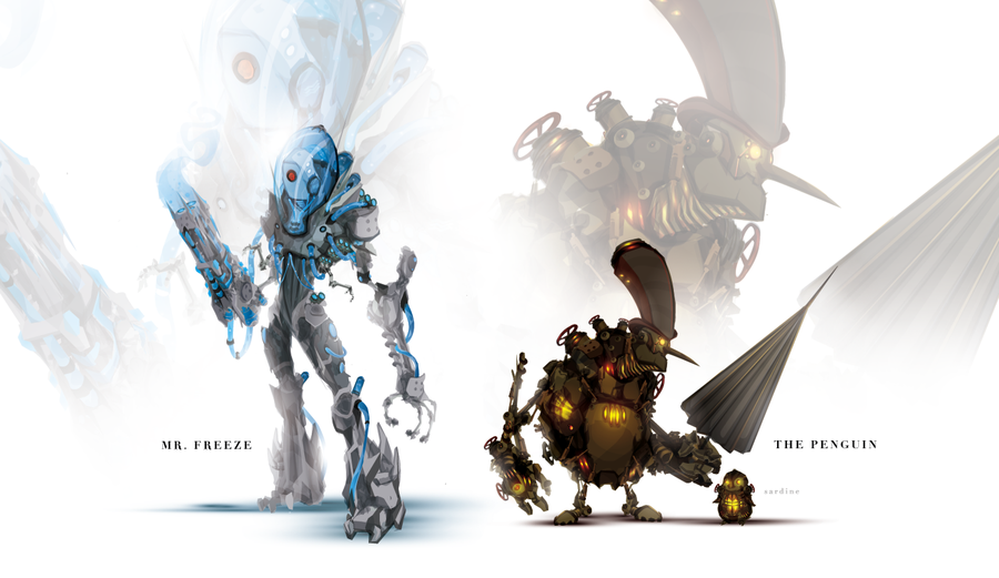 gotham_gears__mr_freeze_and_the_penguin_by_chasingartwork-d5gpu8u.png