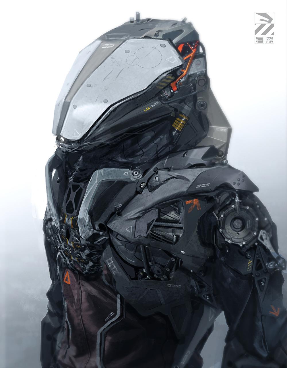 Striking cyborg art geektyrant for Sci fi decor