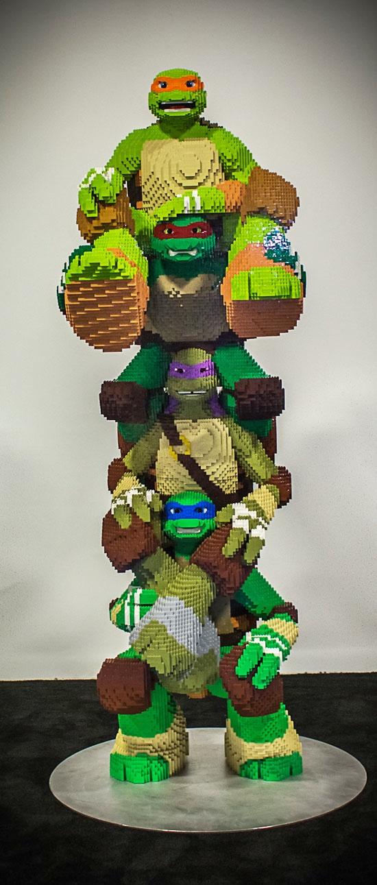 Life Size NINJA TURTLES LEGO Awesomeness — GeekTyrant