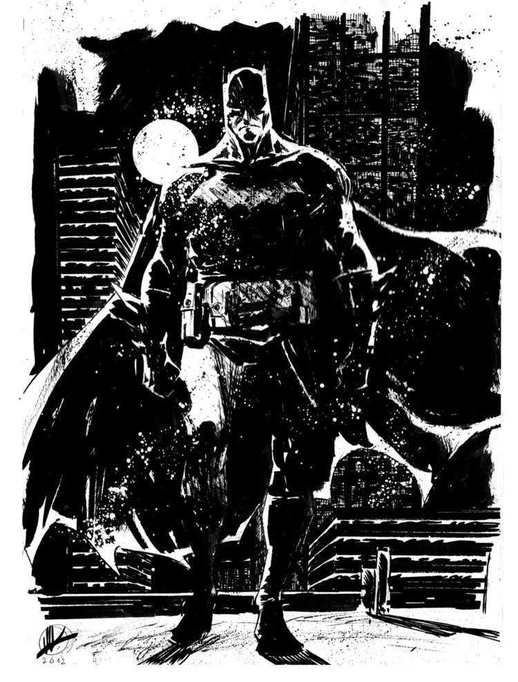 Check out this sensational collection of black and white sketches featuring several of our favorite superheroes the were created by matteo scalera
