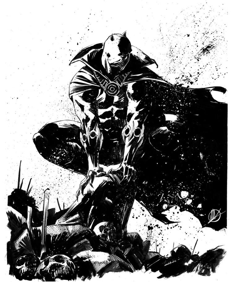Black And White Superhero Artwork