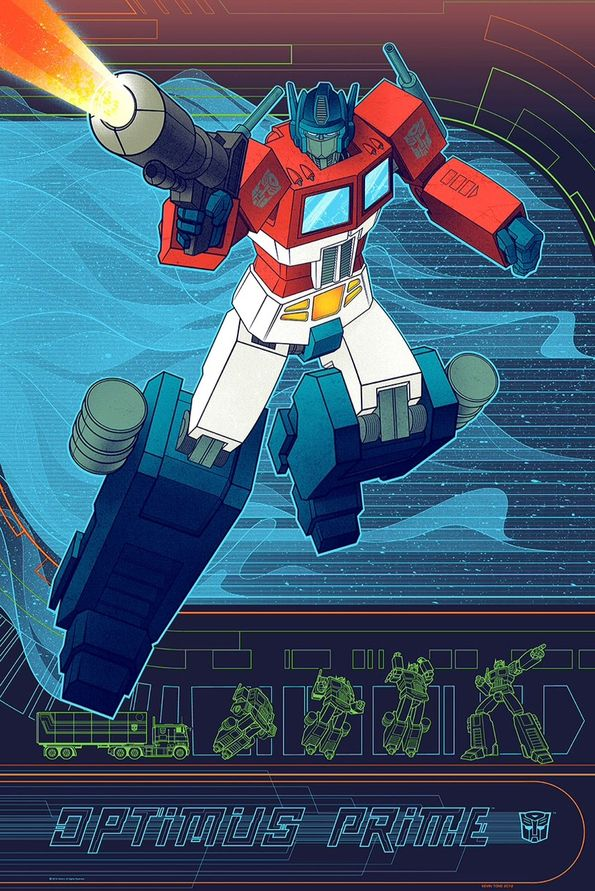 Optimus Prime  By  Kevin Tong  via  Geek-Art