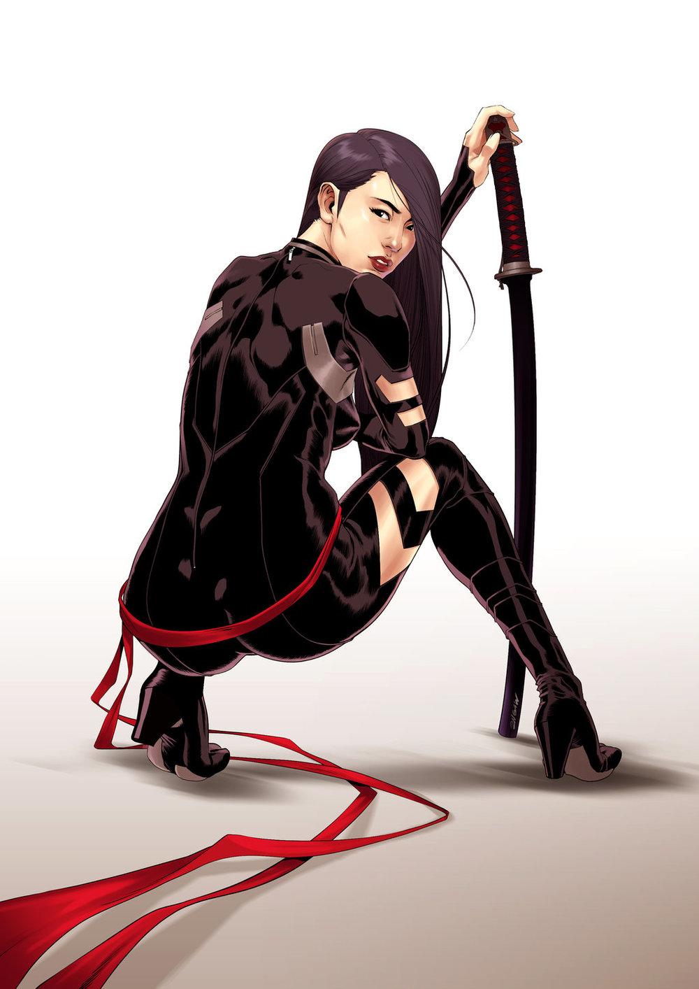 Psylocke by 2ngaw