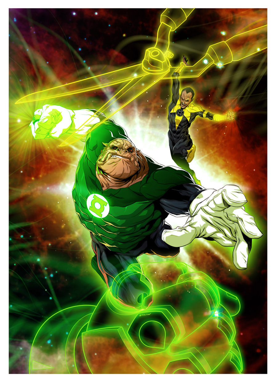 Green Lantern: Rock Vs Scissor by  2ngaw