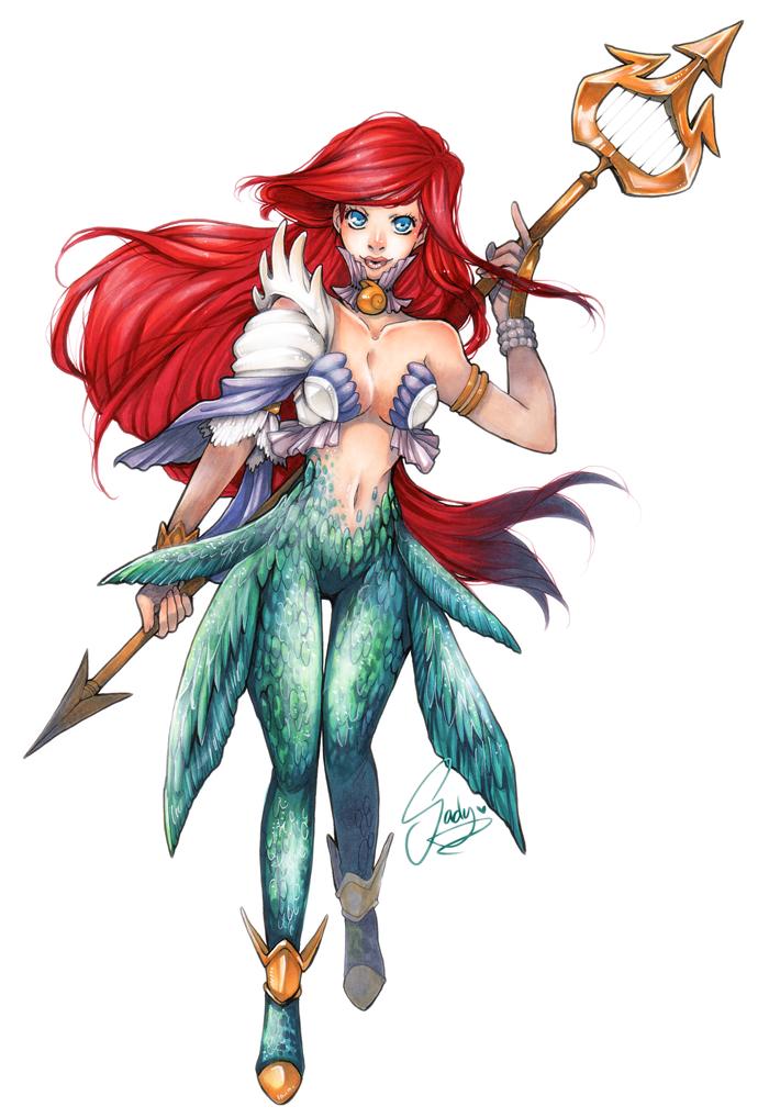 Little Mermaid Princesa Guerrera 1.png