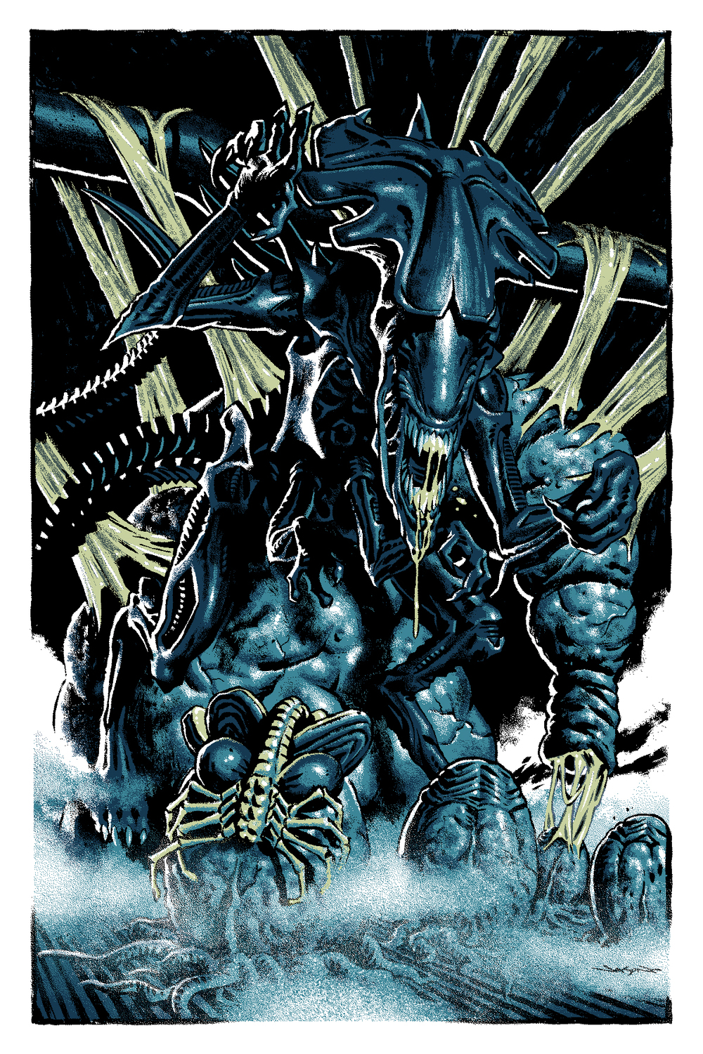 Mondo Villain Poster Art for ALIENS, WOLFMAN, SUPERMAN ...Xenomorph Queen Prometheus