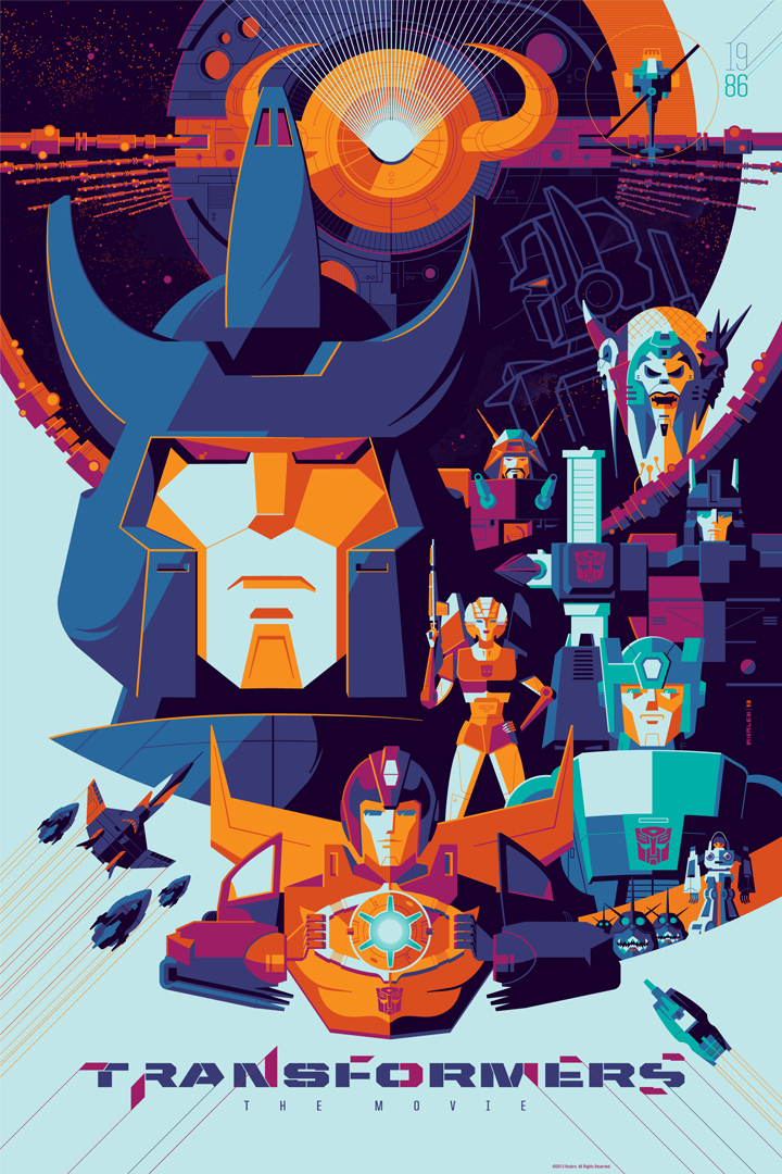 transformers the movie poster art from tom whalen